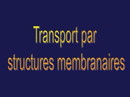 Classification du transport selon la dimension des molecules MICROTRANSPORT (pour les molecules simples) MACROTRANSFER (pour les macromolecules) Transport.