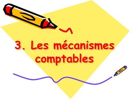 3. Les mécanismes comptables. Comptabilité en partie double Chaque opération effectuée par lentreprise a une origine et une destination : lorsquelle effectue.