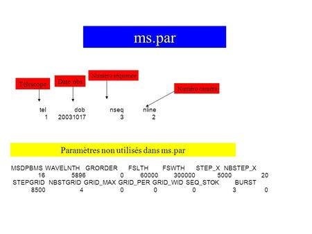 Tel dob nseq nline 1 20031017 3 2 MSDPBMS WAVELNTH GRORDER FSLTH FSWTH STEP_X NBSTEP_X 16 5896 0 60000 300000 5000 20 STEPGRID NBSTGRID GRID_MAX GRID_PER.