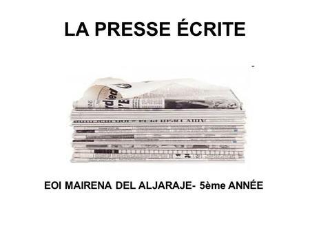 EOI MAIRENA DEL ALJARAJE- 5ème ANNÉE