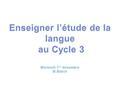 Danièle MANESSE et Danièle COGIS : Orthographe à qui la faute ? ESF éditeur, 2007  Principe de l'enquête : une dictée effectuée en 1987 pour une large.