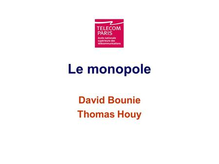 David Bounie Thomas Houy