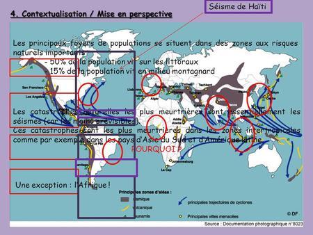 Séisme de Haïti 4. Contextualisation / Mise en perspective