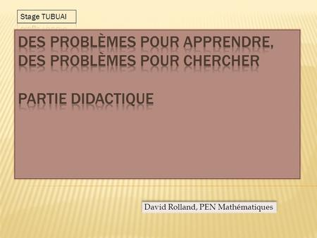David Rolland, PEN Mathématiques. - La conception transmissive (encore appelée conception de la tête vide) : Lenseignant présente clairement le savoir.